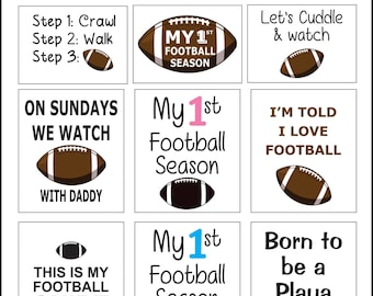 Football Iron On Transfer Package PRINTABLE INSTANT DOWNLOAD