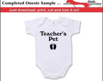 Teachers Pet Iron On Transfer Instant Download