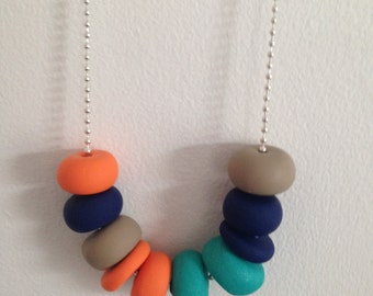 """Polymer Clay Necklace - """"A pop of colour"""""""
