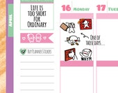 Munchkins - WHY?! LIFE!! One of Those Days Fed Up Planner Stickers (M139)