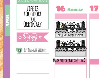 Munchkins - Concert or Band Practice Planner Stickers (M187)