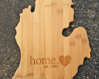 State Cutting Board,Home,Michigan,States,Personalized Cutting Board,Shower Gift,Wedding Gift,Anniversary Gifts,Housewarming Gift,Engrave