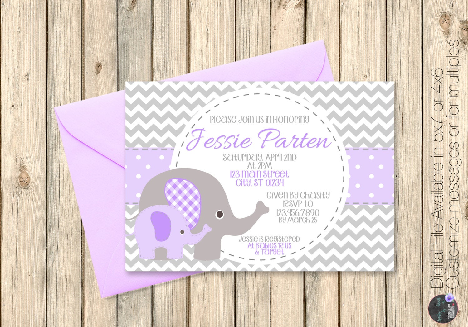 Purple And Grey Baby Shower Invitations Grey And Purple Baby