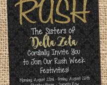 Sorority Rush, Sorority Rush Invitation, Sorority Rush Flyer, Sorority Rush Poster, Sorority Bid Day, Sorority Flyer, Invitation, Greek