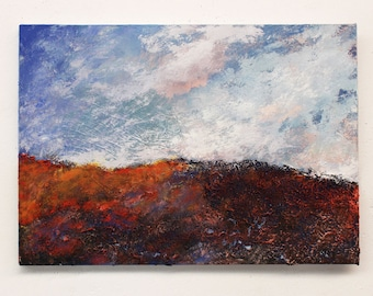 Textured painting, original painting, landscape, wall art, abstract painting, wall hanging,