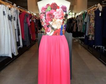 Roses dress;party dress, birthday dress, wedding dress, bridesmaids dress