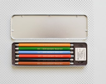 Lead holder Mechanical colored pencil crayon clutch pencil retractable crayon lead pencil Koh-i-noor