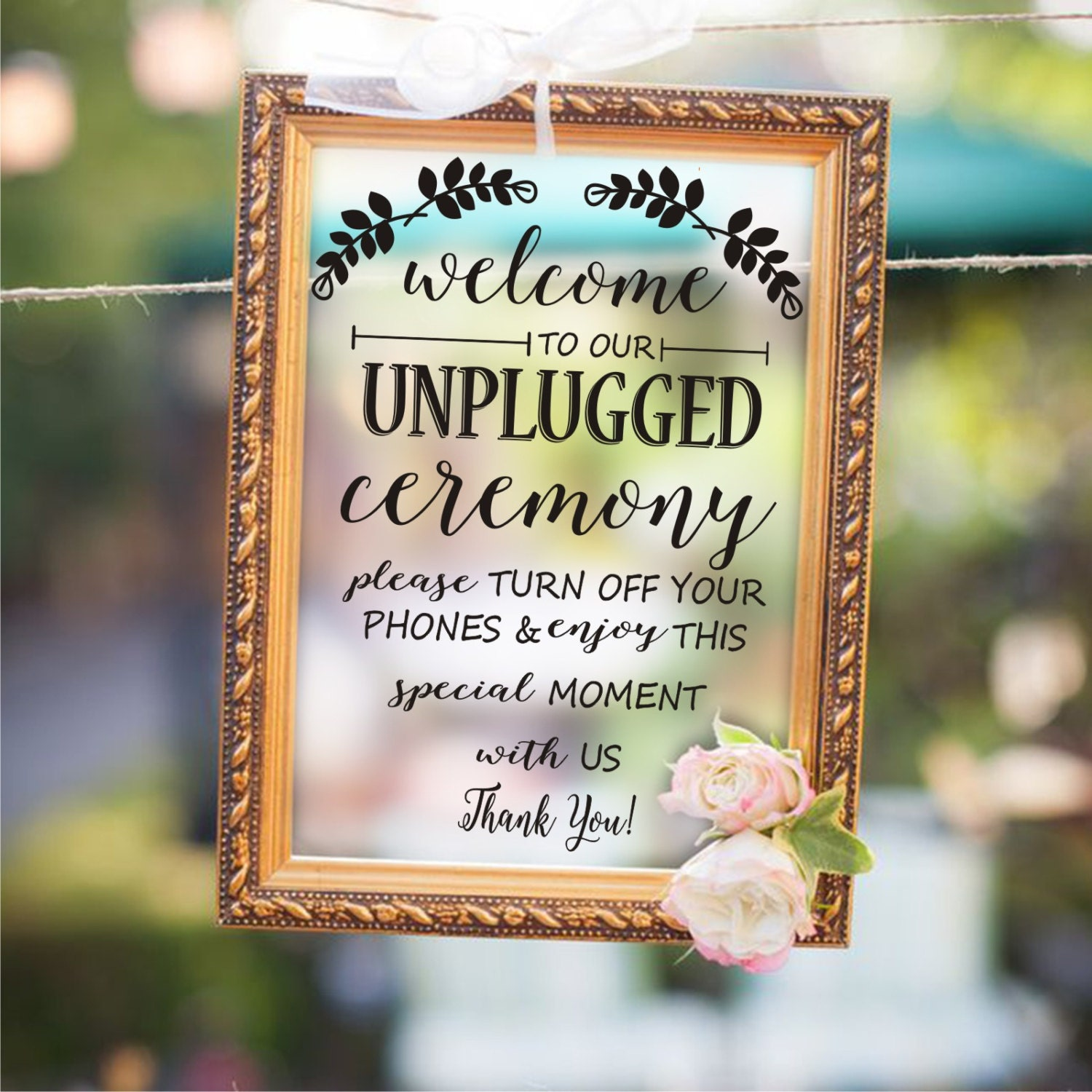 Must Have Wedding Picture List: Wedding Sign Decal Unplugged Ceremony Wedding Picture