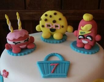 Shopkins Inspired Cake Topper Set! Fondant ~ Edible