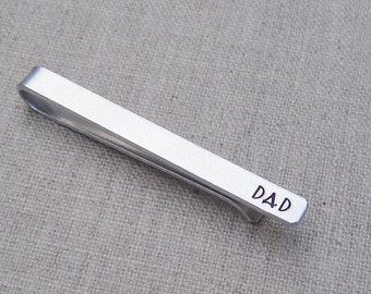 Mens personalized tie clip, tie bar, dad tie clip, gift for him, father's day gift, customized gift for men, silver tie bar