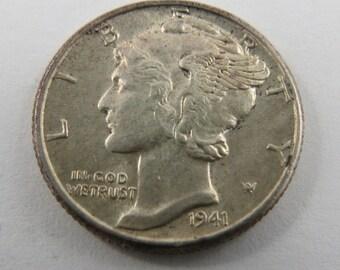U.S. 1941 Mercury Silver Dime