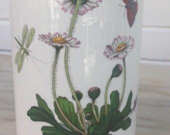 "vintage Portmeirion, Bellis Perennis Daisy Botanic Garden, 5"" jar, 1970s"