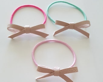 Girls ponytail elastic band. 3 set
