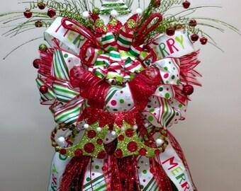 CHRISTMAS TREE TOPPER - Tree Topper - Mischievous Elf - Elf Tree Topper -Christmas Decor - Whimsical elf