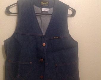 Wrangler Denim Vest with Chevy Back Patch