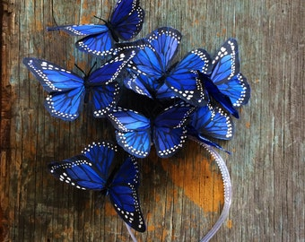 Royal Blue Monarch Butterfly Fascinator