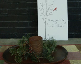 Christmas Cardinal ~ Holiday Sign