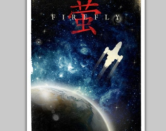 Alternative Firefly serenity poster movie film scifi nerd movie vintage space galaxy chinese art home decor geek poster
