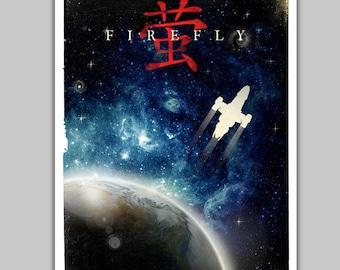 Alternative Firefly Serenity Poster Movie Film Scifi Nerd Movie Vintage Space Galaxy Chinese Art Home Decor