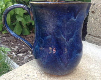 Gorgeous Blue and Purple Pitcher, Flower Vase