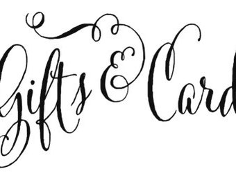 gifts and card wedding sign design svg