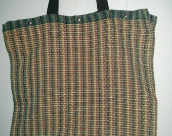 HANDWOVEN Market / Tote / Beach Bag (machine washable) with snaps