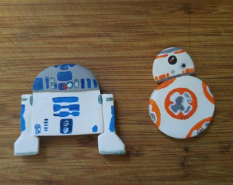 Starwars Magnets: BB-8 and R2D2