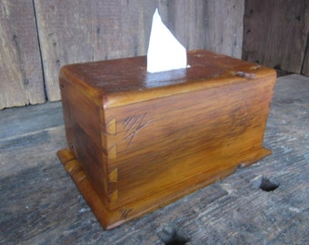 Old Barn Wood Hand Made Tissue Box