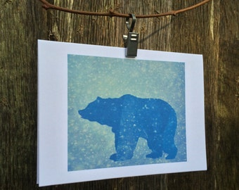 Blue Bear Greetings Card
