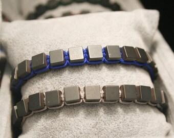 Men bead bracelet, Men braided Bracelet, Men Woven Bracelet, Men Healing Bracelet, Hematite bracelet, Gift For Him, Men Gift,  zen jewelry
