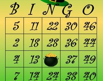 St Patricks Bingo Etsy