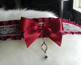 Wine and Lace  ~ Kitten Play Collar