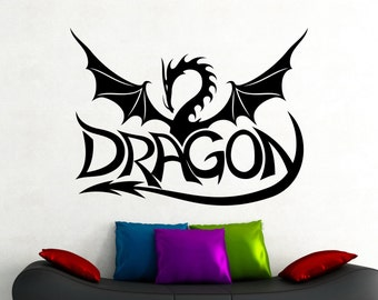 Dragon Wall Decal Draco Sticker Home Wall Decoration Living Room Bedroom Decor Wall Art Murals Removable Stickers 6drzz
