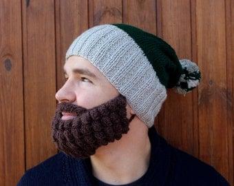 Crochet beard and hat   Knitted face warmer, Snowboard, ski mask and beanie   Funny fake beard, mustache   Christmas facial hair