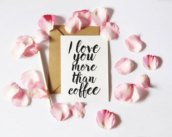 Coffee Love Card, Funny Printable, Printable Card for boyfriend, Pun Card, Card for Him, Funny Love Card, I love you card, Instant Download