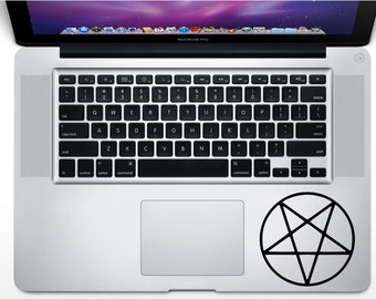 Pentacle Pentagram Sticker  , MANY COLORS ,  wiccan inspired Decal, Graphic Laptop Decal Decor , holiday sticker, Bumper Sticker Vinyl Decal