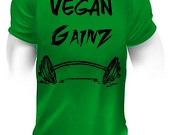 Vegan Gainz,vegan,vegan shirt,vegan tshirt,vegan t-shirt,vegan clothes,vegan clothing,vegan apparel,vegan gym,vegan fitness,vegan workout,