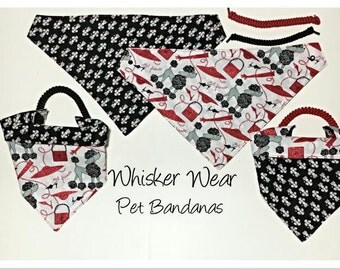 canine corner dog breeds, reversible dog scarf, dog bandana, pet scarf, pet bandana, pet attire, pet clothing, reversible, poodle