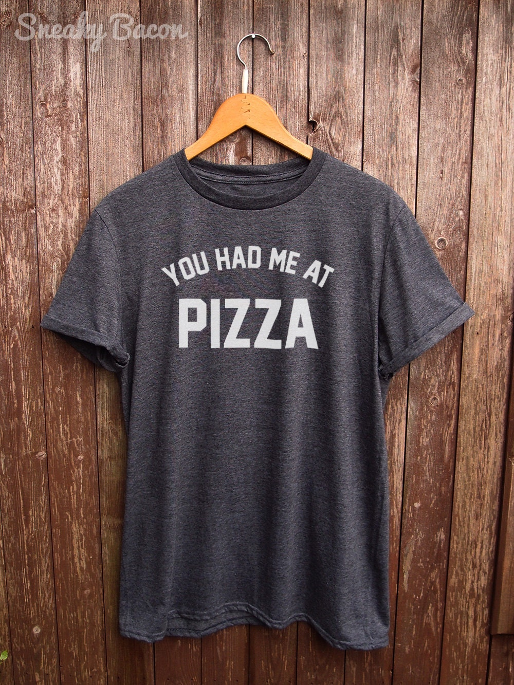 Funny pizza shirt text tshirt funny t shirts funny food for Best selling t shirts on etsy