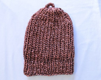 Metallic Copper Knitted Hat