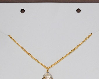 Crystal glass necklace, wedding necklace, wedding jewellery, bridal necklace, gold necklace, necklace, bridesmaids necklace,Adaile necklace.