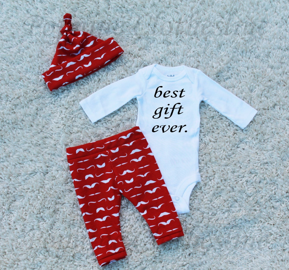 Best Newborn Baby Boy Gifts : Mustache baby boy outfitbest gift everbaby coming home