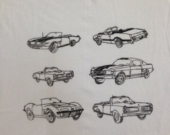 Muscle Car Tee Shirt- Classic Cars Shirt- Car Tee- Muscle Car Gift- Classic Car Gift- Boyfriends Gift- Size Large