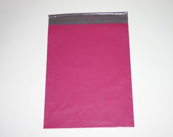 50 10x13 Poly Mailers Raspberry  Self Sealing Envelopes Valentine Spring