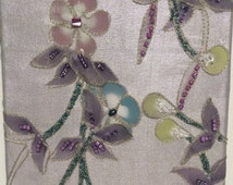 Set of Two Wall Hangings, Flower Wall Hanging, 3-D Wall Hanging ,Fabric Wall Hanging