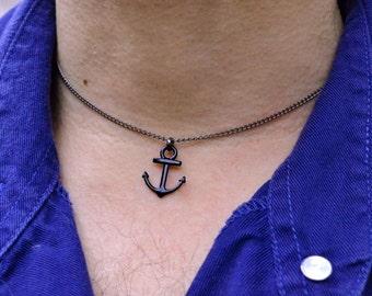 Valentine gift for him Mens necklace mens pendant Mens anchor Necklace Anchor pendant Nautical Necklace Mens Jewelry For Men Minimal pendant