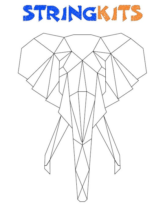 elephant string art template. Black Bedroom Furniture Sets. Home Design Ideas
