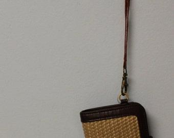tweed wallet with wristlet