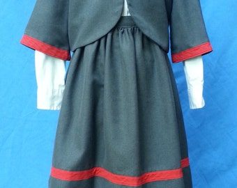 Girls Confederate Cantiniere Costume Size 6