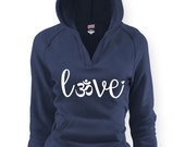 Love OHM V Hoodie. OM yoga Namaste Asana Zen Peace. Relaxation Stress Relief Love Fitness Active Stretching Nature Calming
